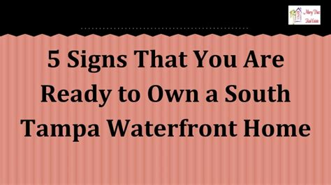 5 Signs You Are Ready To Enroll In An Online Mba Program | 5 signs that you are ready to own a south ta waterfront