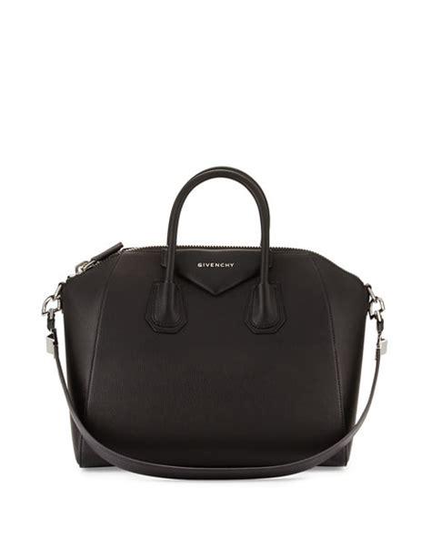 Givenchy Shiny Grained Nightingale Handbag In Marine Blue by Givenchy Antigona Medium Sugar Goatskin Satchel Bag