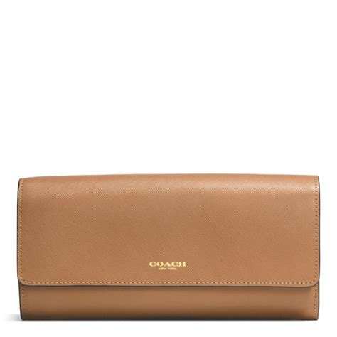 Coach Slim Envelope Wallet coach slim envelope wallet with pop up pouch in saffiano