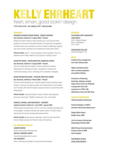 12 good looking resumes resume type
