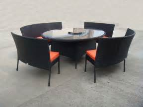 Patio Table And Chair Set Rattan Garden Dining Sets With Bench Patio Table And Chairs Set