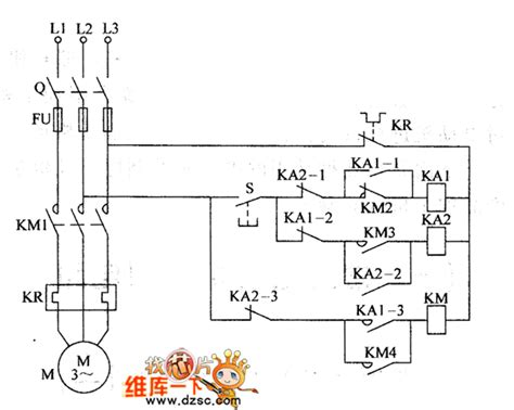 the circuit of the common electric motor 2