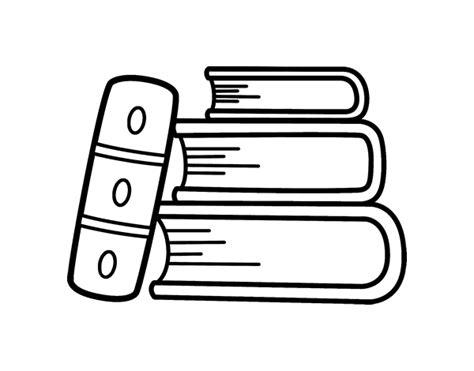 libros para colorear online dibujo de unos libros para colorear dibujos net