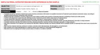 Expeditor Resume by Expeditor Resume
