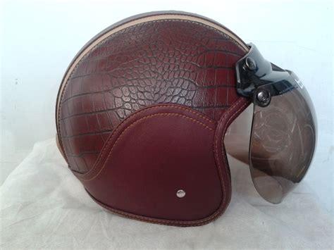 Helm Retro Silver Metal Bogo Cargloss helm bogo oldskool merah kecoklatan buaya 1 firman
