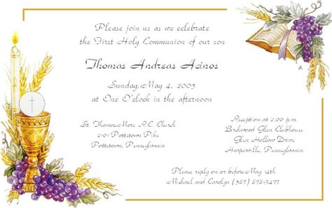Template For Holy Cards by Amazing Sle Communion Invitation Cards White