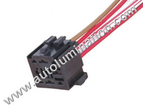 Socket Relay Universal 9 pin 5 wire universal relay socket connector pigtail