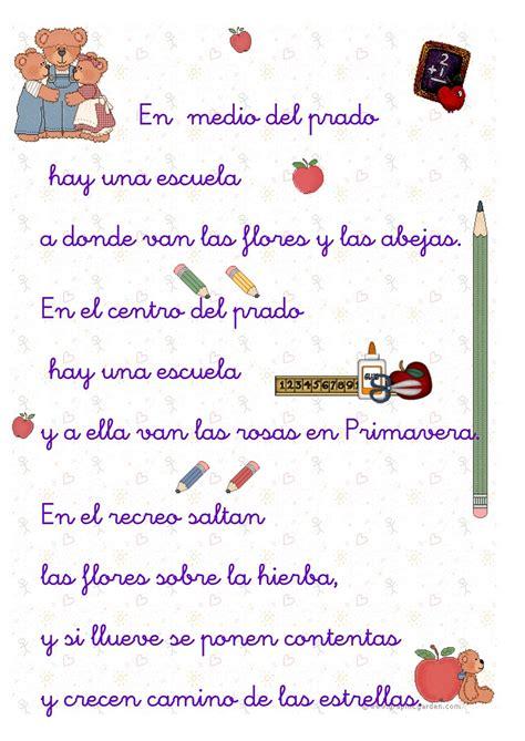 httpcoplas o versos de despedida de fin de ao del jardin fichas para primaria poema de la escuela