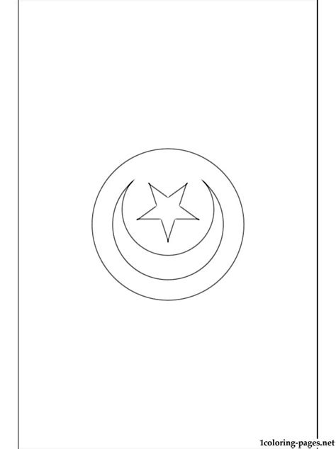 tunisia flag coloring page coloring pages