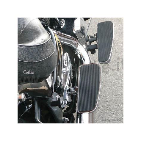 pedane moto custom pedane comfort larghe regolabili solid passeggero baron