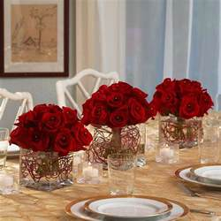 Martini Flower Vases Red Roses Centerpieces For A Party Or Your Christmas