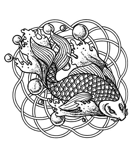 fish mandala coloring page mandala fish and bubbles mandalas coloring pages for