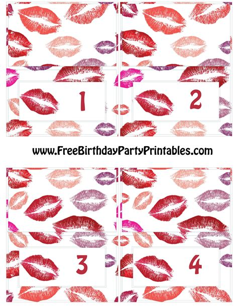 Free Card Templates With Lipstick by Lipstick Birthday Printables