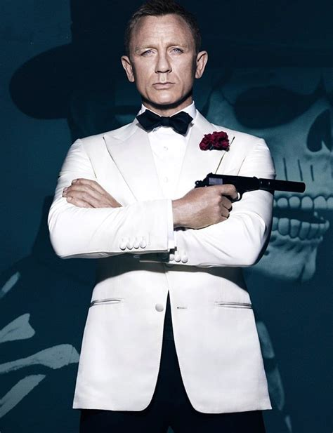 Bond 007 Daniel Craig White spectre bond white tuxedo spectre suit