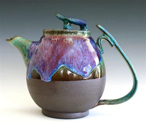 Handmade Clay Pots - bloom of lilac teapot handmade stoneware teapot