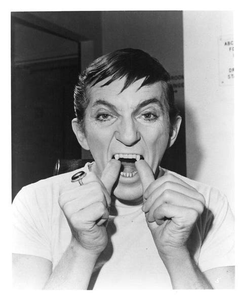 Johnathan Frid gets into Barnabas Collins mode in dark