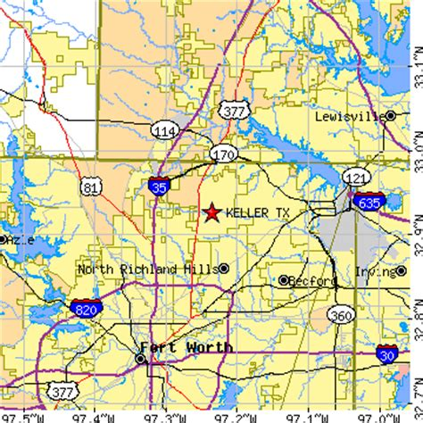 map of keller texas and surrounding areas keller texas tx population data races housing economy