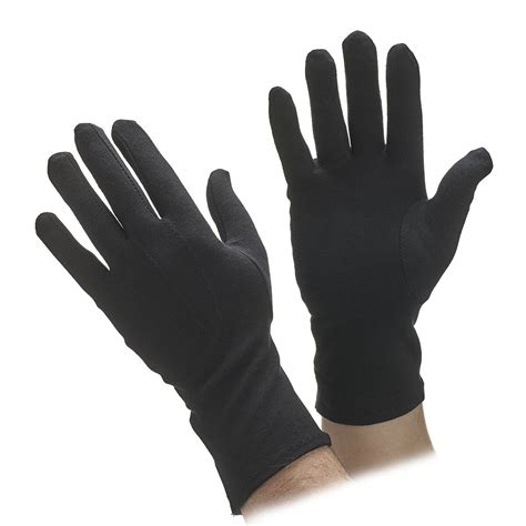 Black And White Gloves black cotton parade gloves cotton gloves