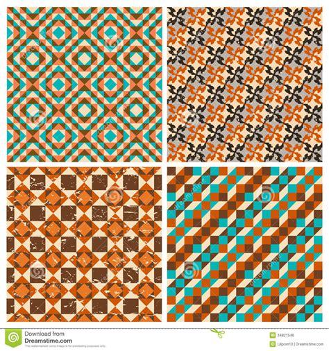 interior design color patterns set of seamless geometric retro patterns royalty free