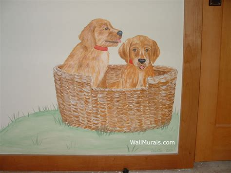 Dog Wall Murals nature wall murals by colette nature wall murals