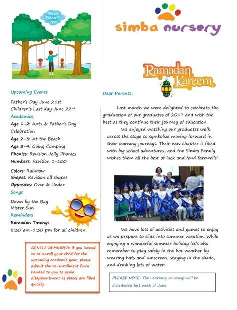 April 24 27 2017 Mba Cseawp by June 2017 Newsletter Simba Nursery School In Abu Dhabi
