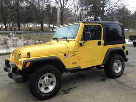 2001 Jeep Wrangler Top Sell Used 2001 Jeep Wrangler Sport Top 4x4