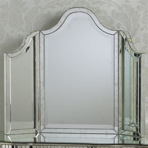 tri fold channeled glass vanity mirror l shades by