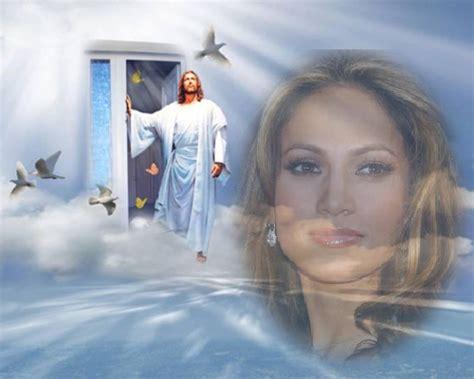 imagenes de jesus en el cielo fotomontaje de paz y tranquilidad en el cielo con jesus