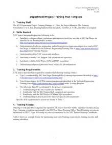 download project management training plan template free