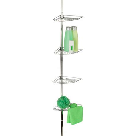 Tension Rod Shower Caddy by Honey Can Do Chrome Corner Tension Rod Shower Caddy