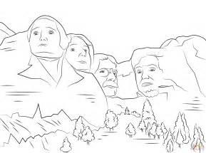 coloring page for mount rushmore dibujo de monte rushmore para colorear dibujos para