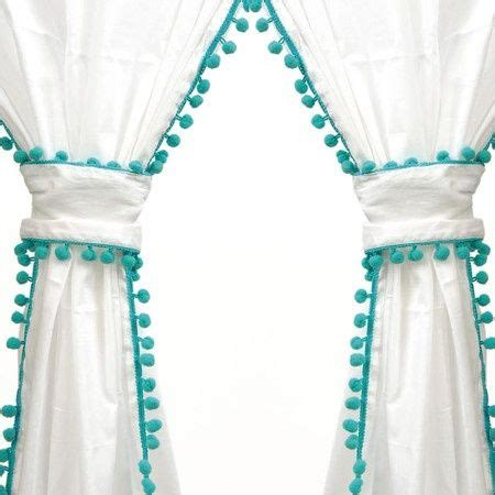 Pom Pom Curtain Panels Inspiration Curtains With Pompom Fringe So For Room Interior Design Accessories