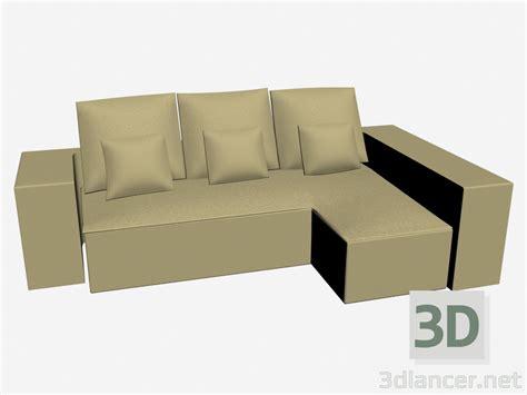 divani 3d 3d modella divano ad angolo meridienne grembo dal