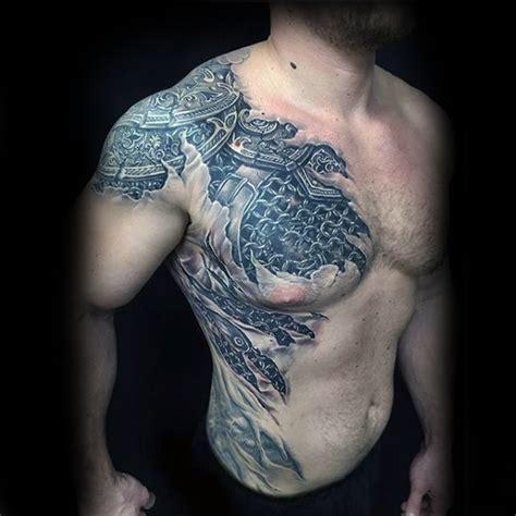 40 3d en el pecho de dise 241 os de tatuajes para hombres
