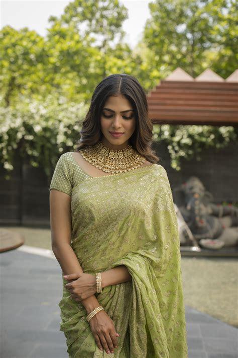 thalapathy fame actress malavika mohanan   saree  cinema news