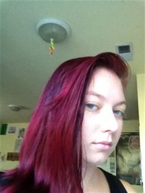 ion color brilliance brights mixed with developer my burgundy hair i used ion color brilliance demi in