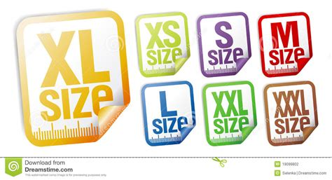 Clothing Size Stickers