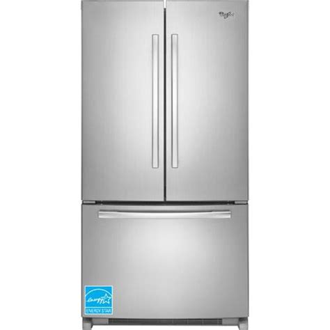 Whirlpool Cabinet Depth Refrigerator by Whirlpool Wrf540cwbm 20 0 Cuft Stainless Steel 3 Door