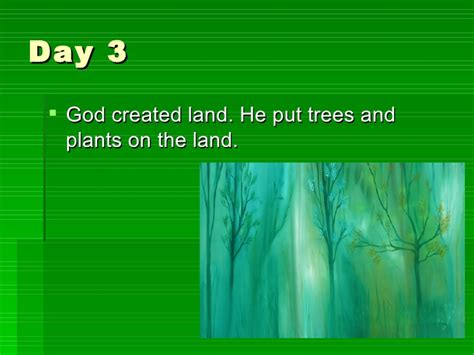 The Three Day Novel by The Christian Creation Story