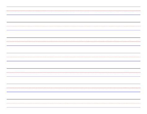 penmanship paper 7 colored lines landscape free download