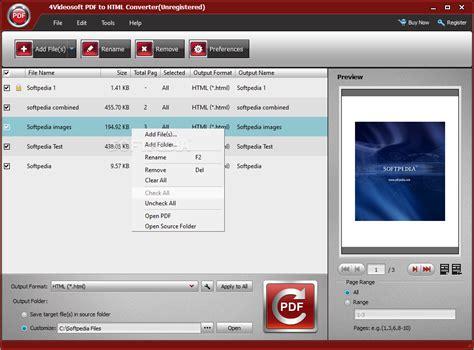 converter html to pdf 4videosoft pdf to html converter download