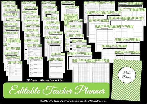 printable planner editable editable chevron printable teacher planner