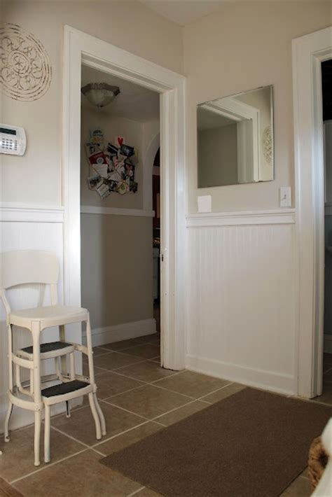 behr paint color antique white hallway and alcove beadbaord and trim in white walls in