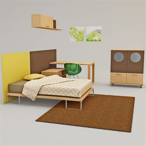 3d bedroom sets kids bedroom furniture 3d model