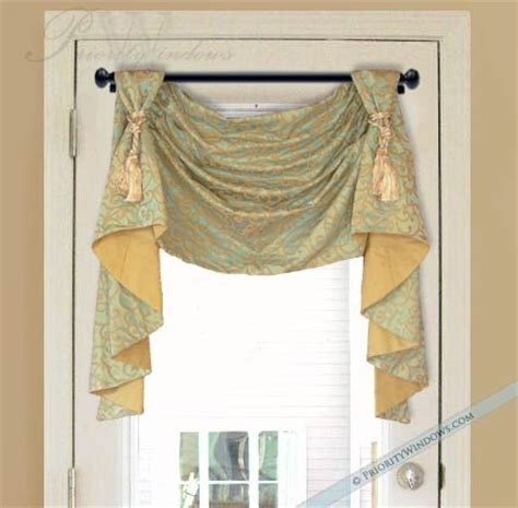 how to do swag curtains victory swag valance with long jabots valances window
