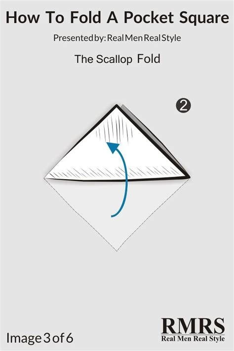 Scallop Fold how to fold a pocket square the scallop fold