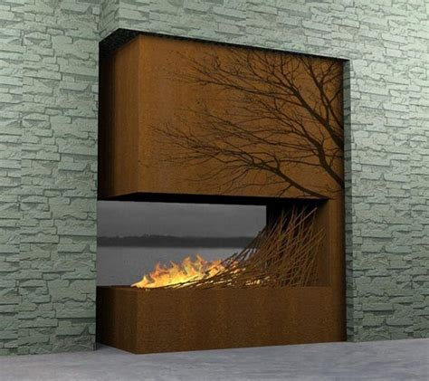 cool outdoor fireplaces amazing fireplaces design collections for indoor and