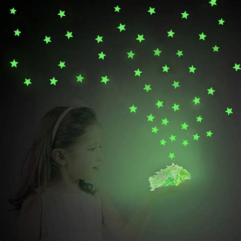dagou 12 pcs 3d luminous 100 pcs luminous plastic wall stickers glow in the