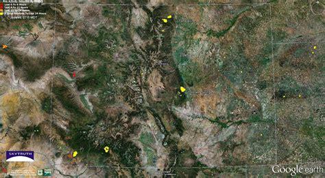 satellite map of colorado skytruth wildfires and gas pine ridge colorado