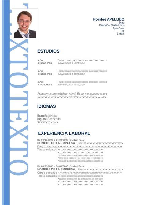 Modelo Curriculum Vitae Latinoamerica modelo de curriculum vitae modelo de cv i started